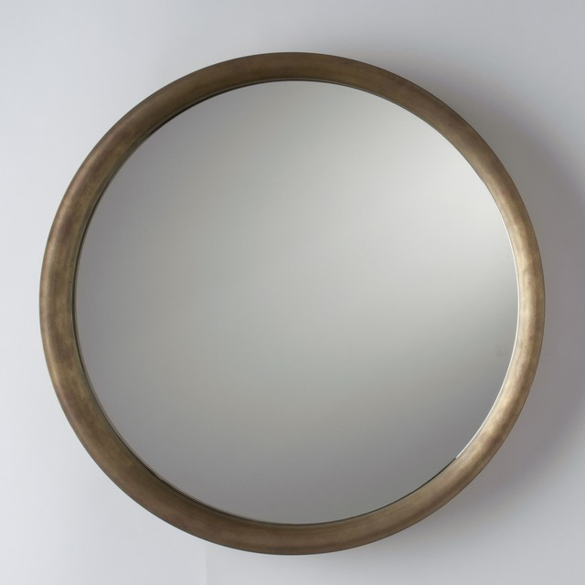 Higgins Round Mirror Rustic Wall Mirrors By