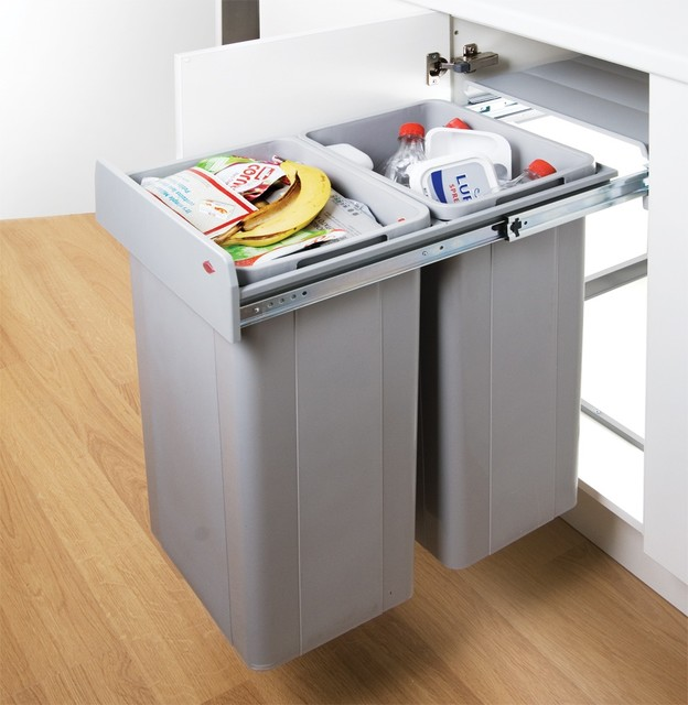 wesco big bio double 64l in cupboard recycling bin