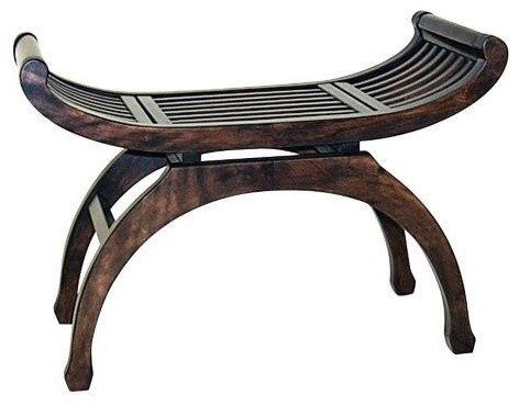 java curved basswood bench asian indoor benches by lamps plus