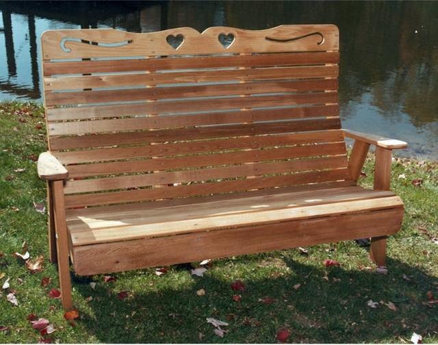 designs cedar country hearts garden bench modern bedroom benches