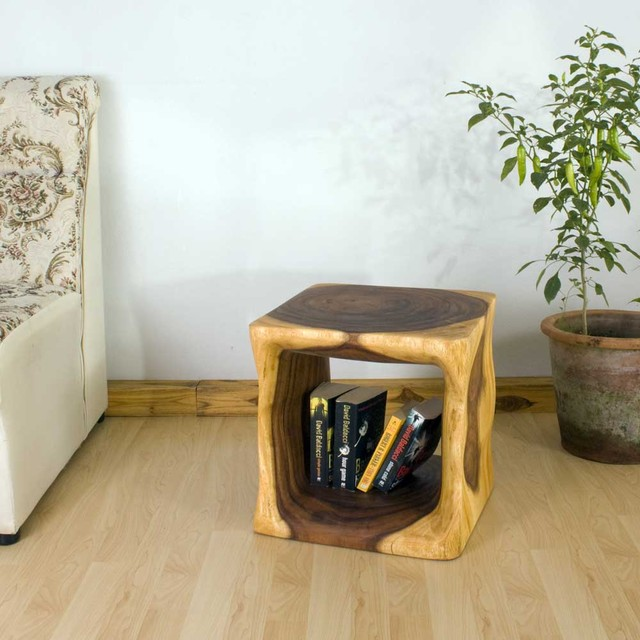 Natural Wood End Table asian-side-tables-and-end-tables