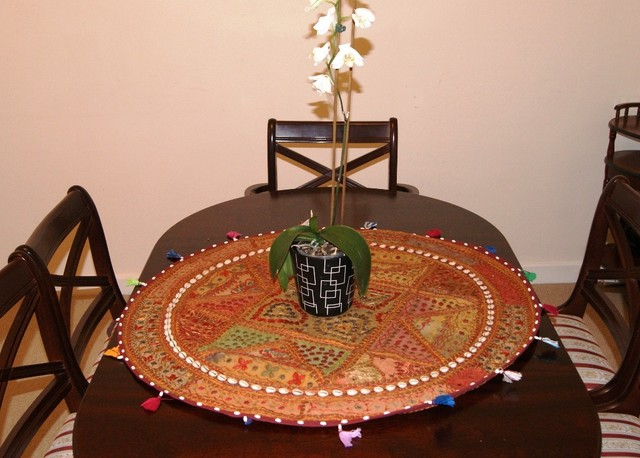 Traditional Indian handmade table cover traditional-throws