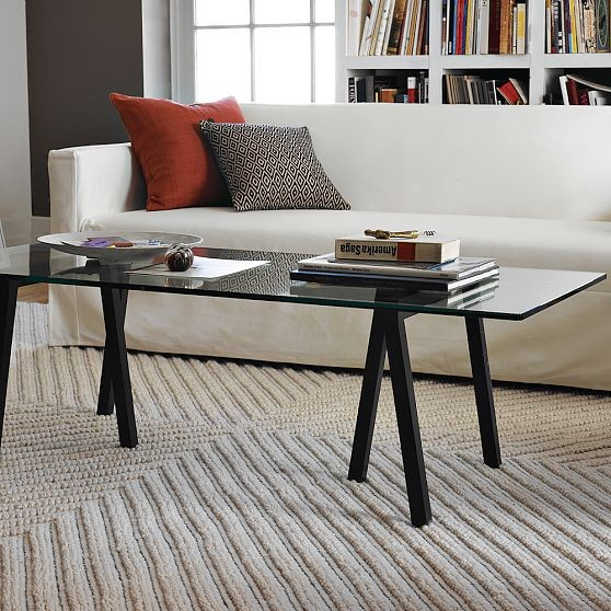 Triad Coffee Table, Glass Top