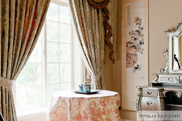 valance curtains with swags and tails by traditional by