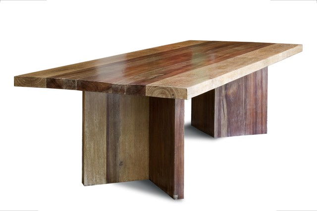 Gourmet Dining Table - V Base tropical dining tables