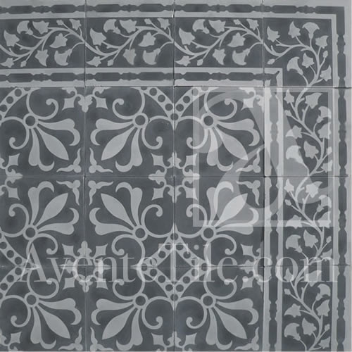 """Cuban Heritage Design 230 3A 8"""" x 8"""" traditional-wall-and-floor-tile"""