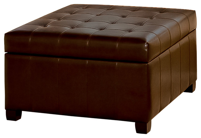 lyncorn leather storage ottoman coffee table