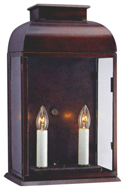 Ashford Colonial Wall Sconce Copper Lantern Traditional