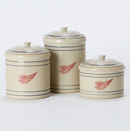 Red Wing Stoneware Canisters traditional food containers and storage