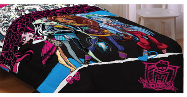 monster high dolls ghouls rule full bed comforter contemporary kids bedding by obedding. Black Bedroom Furniture Sets. Home Design Ideas