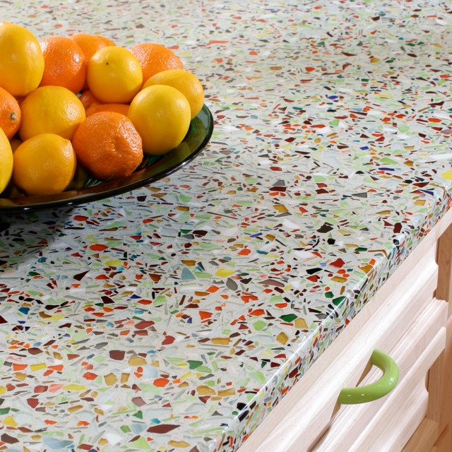 Vetrazzo: Millefiori  kitchen countertops