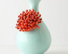 Curvy Chrysanthemum Vase contemporary-vases