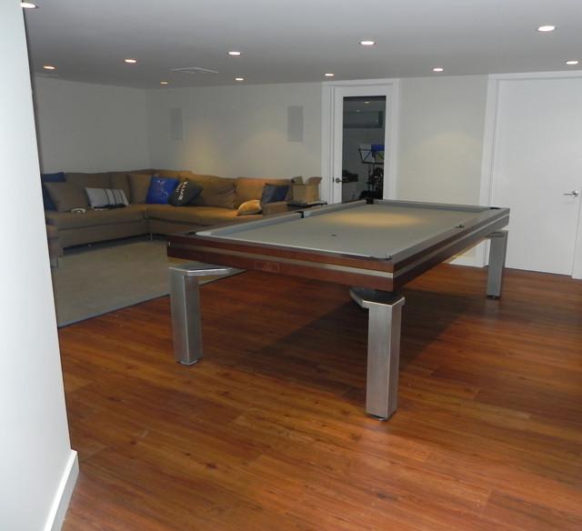 Luxury New York Basement Game Room