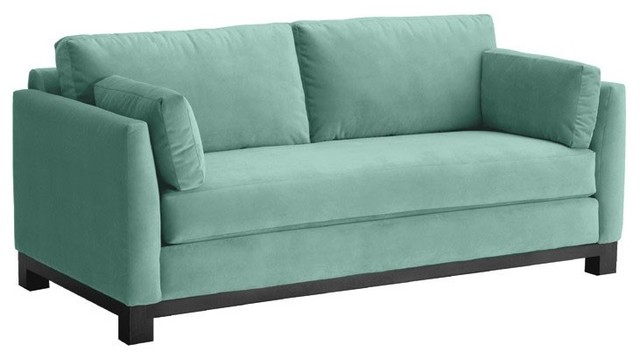 avalon apartment size sofa sixties blue 57x37x30