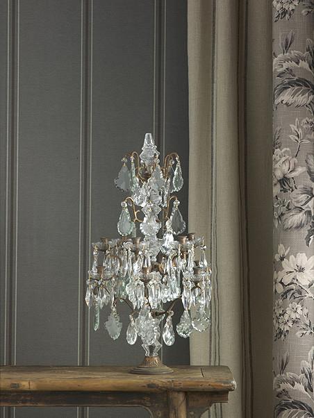 Buckingham Pinstripe Suit Wallpaper - Charcoal transitional-wallpaper