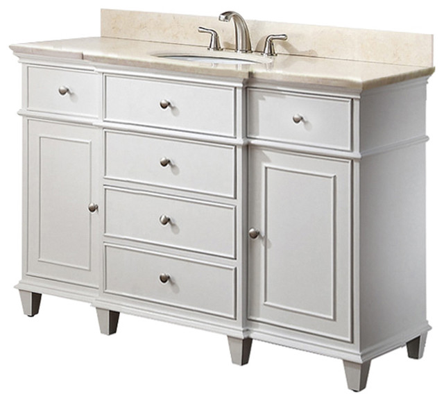 White Bathroom Vanities traditional bathroom vanities and sink consoles