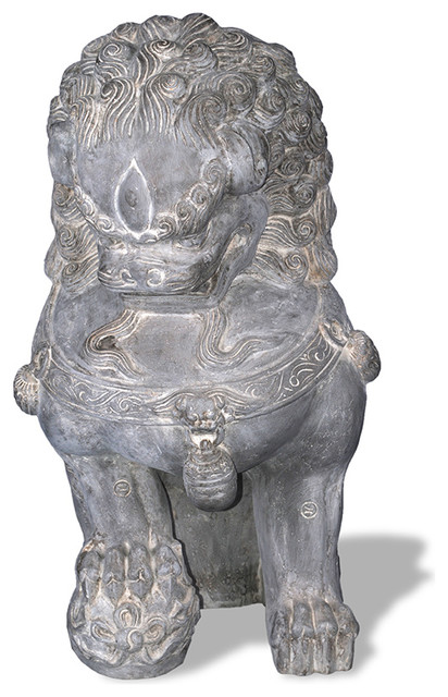 Foo Dog Statue - Right Facing asian-decorative-objects-and-figurines