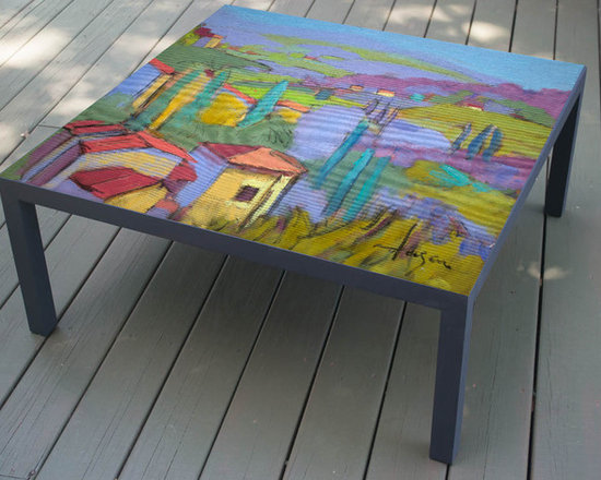 Hand Painted Coffee Table, The Villa design, made to order -