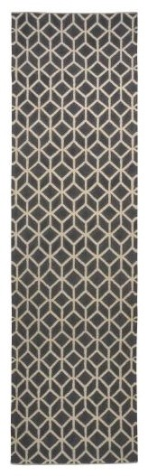 Facet Charcoal/Cream Rug eclectic-rugs