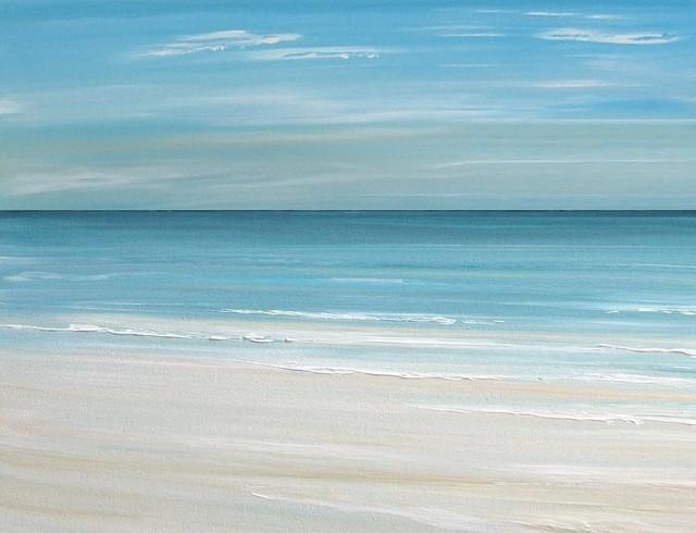 Beach Art Print Ocean Wave Tropical Artwork