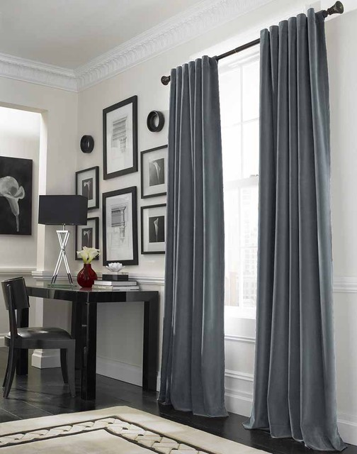 Messina Opulent Velvet Drape traditional-curtains