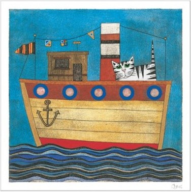 Kitty Ahoy Wall Art modern-artwork