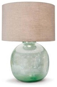Recycled Seeded Glass Lamp tropical-table-lamps