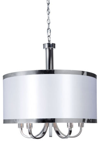 Madison White Five-Light Pendant traditional-ceiling-lighting