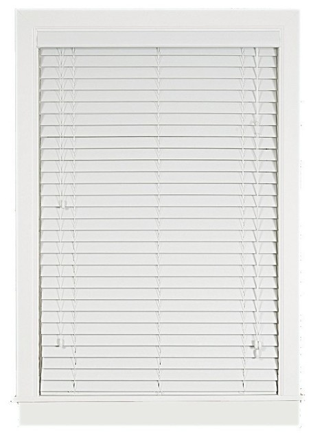 Madera Falsa 2-Inch Faux Wood Blind traditional-window-blinds