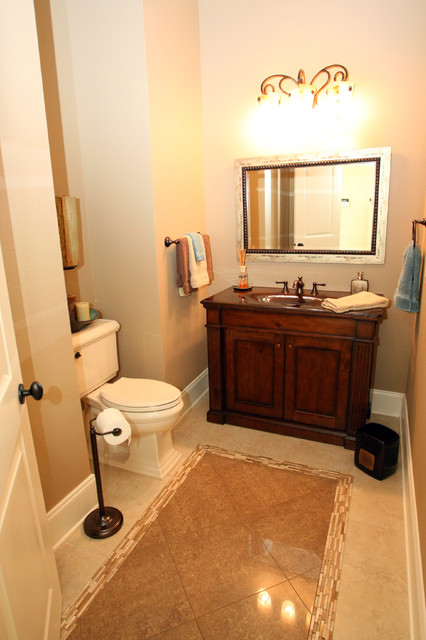 French Country Traditional Powder Room New Orleans By Tyson