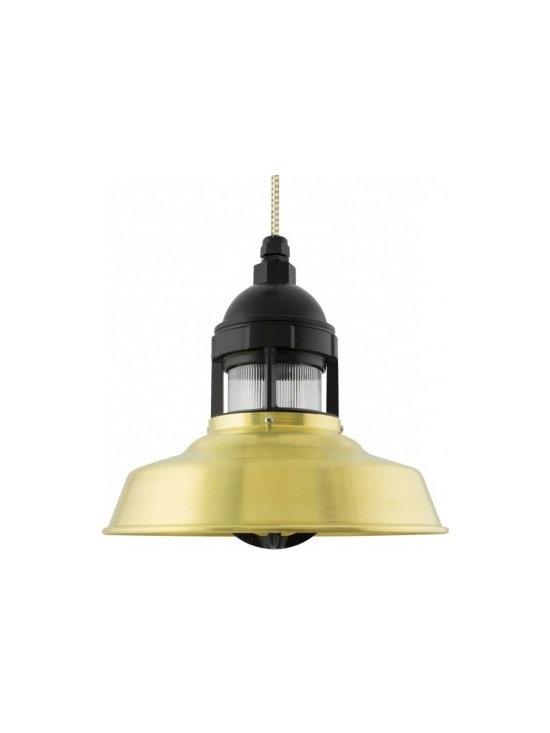 The Sydney Industrial Brass Pendant -