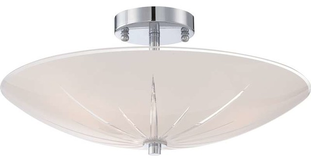 Quoizel Lighting QF1842C Semi-Flush Mount Ceiling Light In Polished chrome - Transitional ...