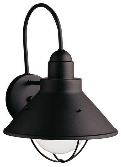 Kichler Lighting 9023BK Seaside Lodge/Country/Rustic Outdoor Wall Light - XLarge - Rustic ...