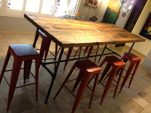 Reclaimed Wood Dining Table White Oak Gas Pipe  : eclectic dining tables from houzz.com size 640 x 480 jpeg 82kB