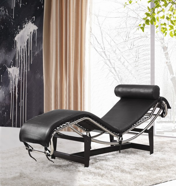 le corbusier leather chaise lounge lc4 modern other metro by in style modern. Black Bedroom Furniture Sets. Home Design Ideas