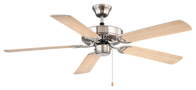 Cornerstone 5000FC/20 Brushed Nickel Fan with Light Maple Blades traditional-ceiling-fans