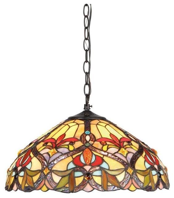 Tiffany Victorian Style 2 Light Pendant Fixture