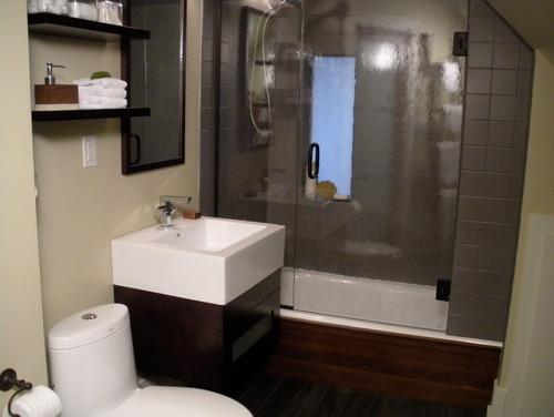 A Small Cramped Attic Bath Becomes A Handsome Zen Spa Retreat