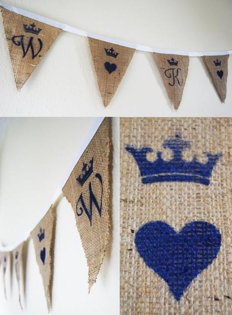 Rustic Royal Wedding Bunting kids-decor