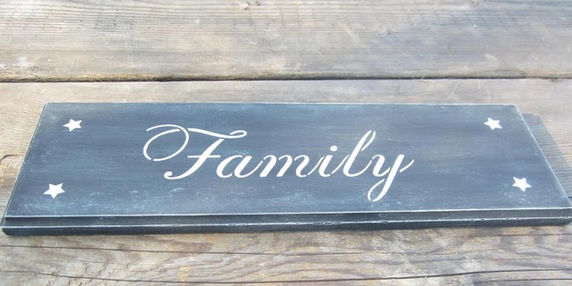Prim Family Sign, Primitive Sign, Country Sign, Home Decor, Wall Hanging contemporary-home-decor