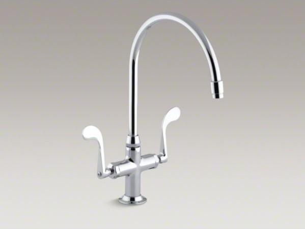 kohler essex r single hole kitchen sink faucet with 9 kohler 1378 sink gooseneck spout commercial kitchen faucet