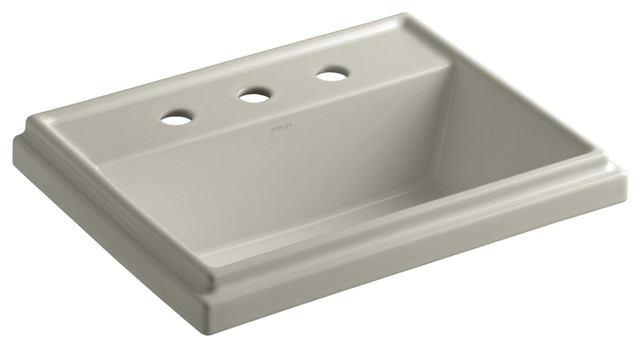 KOHLER K-2991-8-G9 Tresham Rectangle Self-Rimming Lavatory contemporary-bathroom-sinks
