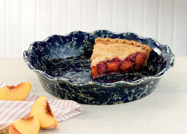 Handmade Stoneware Pie Pan contemporary-pie-and-tart-pans