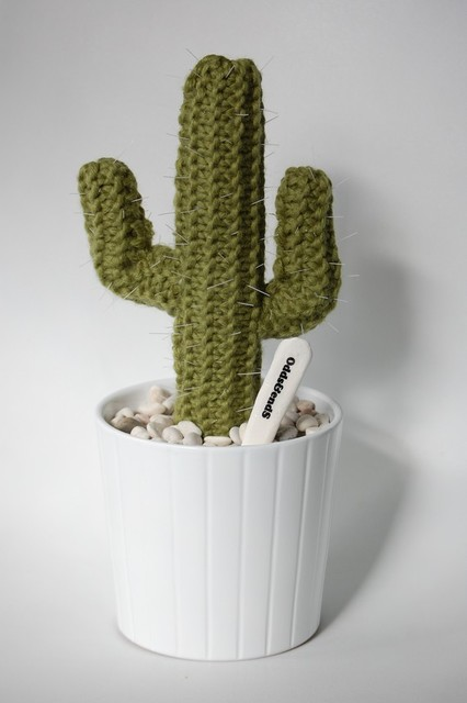 ARIZONA Knitted Cactus by Odds and Ends eclectic plants