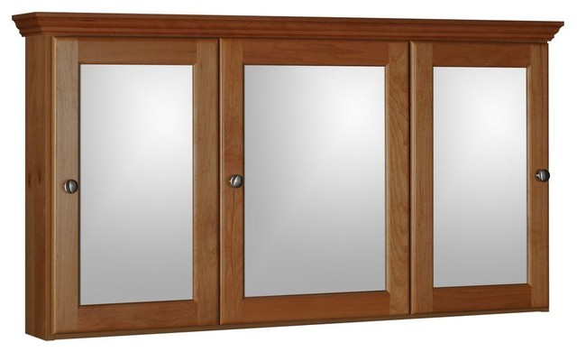 Simplicity by Strasser Cabinets 48 in. W x 27 in. H Tri-View Non-Beveled Mirror - Contemporary ...