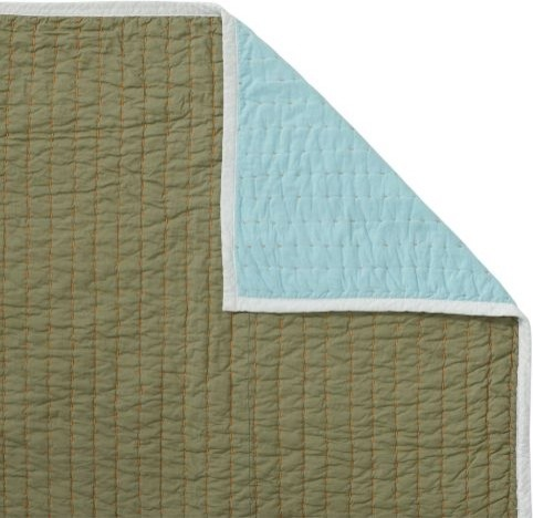 Aqua/Army Cabin Quilt traditional-quilts