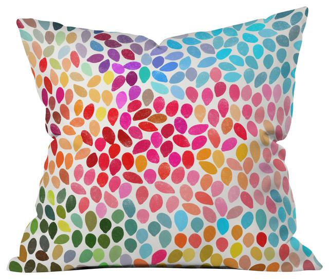Garima Dhawan Rain 6 Outdoor Throw Pillow contemporary-outdoor-cushions-and-pillows
