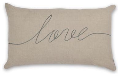 Love Cushion, Sage modern-pillows