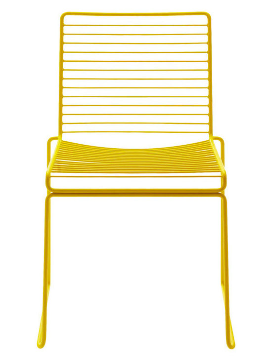Stackable Hee Dining Chair, Yellow -