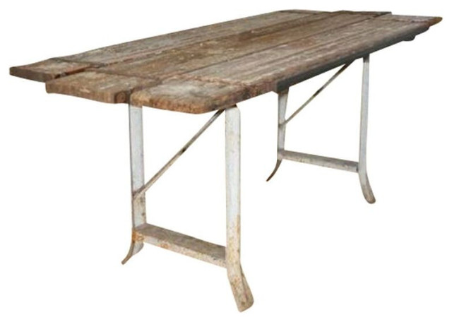 Repurposed scaffolding table 6 500 est retail 2 999 for Repurposed dining table